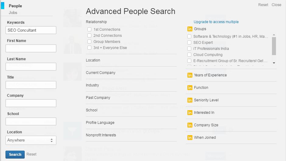 LinkedIn Keyword Search