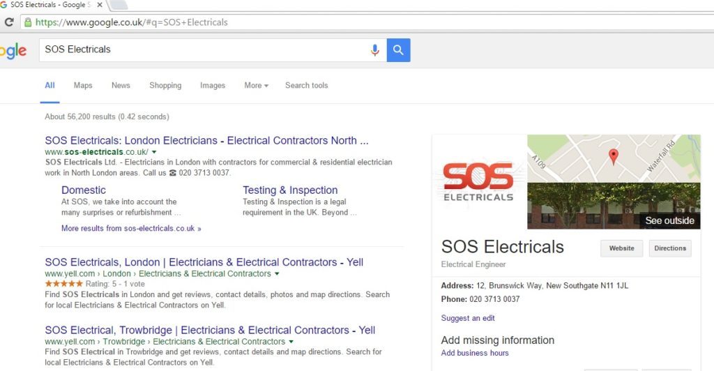 SOS-Electricals-google-local